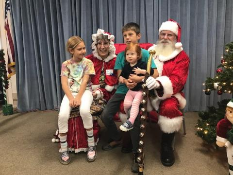 Local children visit Mr and Mrs Claus