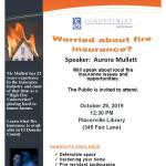 Worried about Fire Insurance? Come to this FREE meeting