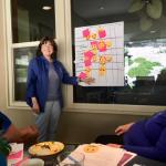 VP Lynne led the brainstorming session.  Members looked at club priorities.