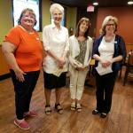 Pictured L to R: Director Sharon, Corresponding Secretary Cherie, Recording Secretary and former Club President Tanya