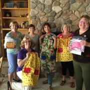 "SI of Placerville sew dresses for ""Dress A Girl Campaign"""